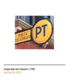 Marchio Poste Italiane - Insegna degli anni Cinquanta ~1950