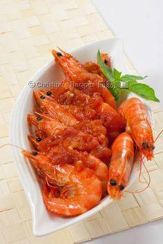 Tomato Chilli Prawns (Chinese New Year) from Christine's Recipes