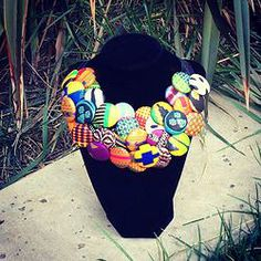 African Button Necklace