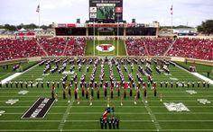 Texas Teach Red Raiders - The Goin' Band from Raiderland inside Jones AT Stadium.
