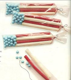 4th of July flag favors