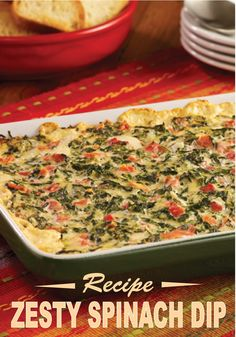 Zesty Spinach Dip – A warm creamy spinach dip recipe with RO*TEL ...