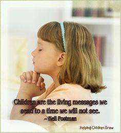 Helping Children GROW: Children Are Living Messages