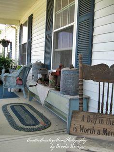 Creative Country Moms Garden: Front Porch Decor