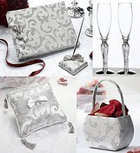 Lillian Rose Silver Renaissance Wedding Accessories Collection