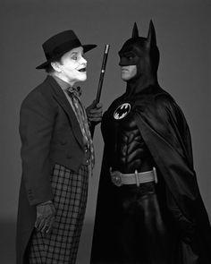 Jack Nicholson & Michael Keaton as The Joker & Batman, (1989)