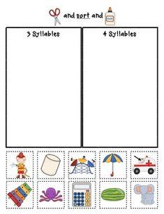 Syllable Sorts {Phonemic Awareness Sorting Series, Set #1} $