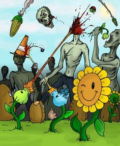 best way to end a zombie apocalypse...?  plant some sunflowers!