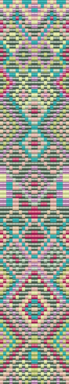 loom beading designs | Beading on a Loom / Free bead patterns from www.mirrixlooms.com