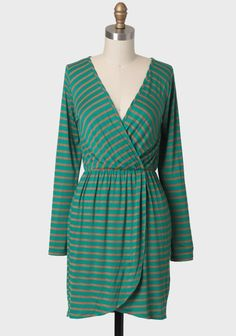 Fallen Pine Striped Dress