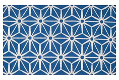 Bricklow Rug, Ultramarine/White on OneKingsLane.com