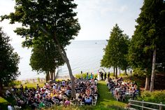 Real Door County Wedding ~ Outdoor wedding. Photography by Michael Segal.