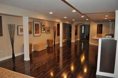 Basement decor, wall colors, rec rooms, loft style, dream, laminate flooring, finished basements, basement idea, flooring ideas basement