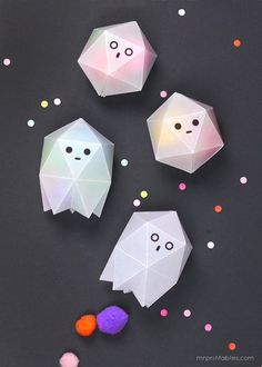 DIY Ghost Treat boxes