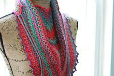 Ravelry: V-eekender Scarf/Shawlette pattern by Kimberly Slifer