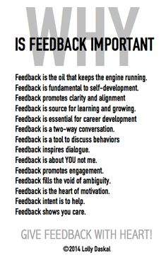 Why is feedback Important by @Lauren Davison Davison Jane Daskal
