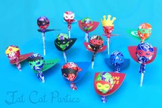 Super Hero Lollipops by FatCatParties on Etsy, $1.50