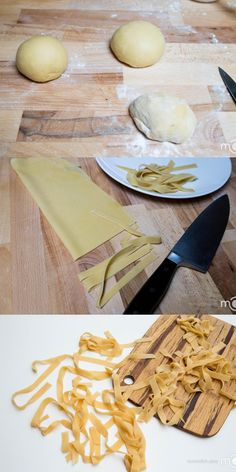 Easy handmade pasta recipe, you will never use boxed pasta after you try this recipe.- Italian