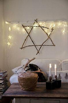 Simple Hanukkah Decor