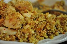 Toasted Quinoa with Lemon Pepper Chicken