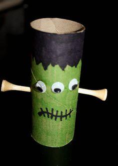 Cardboard Tube Frankenstein