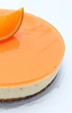 Appelsin-ostekake med gelélokk
