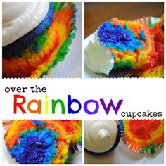 Over the Rainbow Cupcakes and other cute St. Patrick's Day Desserts