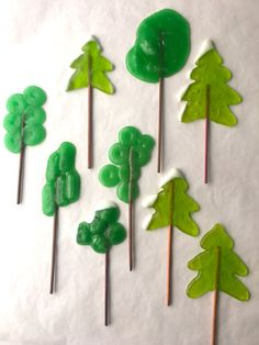 Tree lollipops made