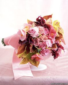 Rosy coleus makes for surprising foliage in a bouquet.