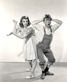 Judy Garland and Mickey Rooney, 1940's