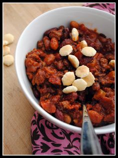 Three Bean and Beef Chili in Slow Cooker