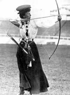 Early 20th century lady archer