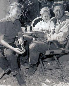 Jeff Bridges with his parents