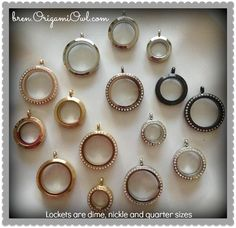 ~ Origami Owl Living Lockets ~ Origami Owl has many glass lockets to choose from!