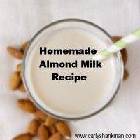 almond milk, homemad almond