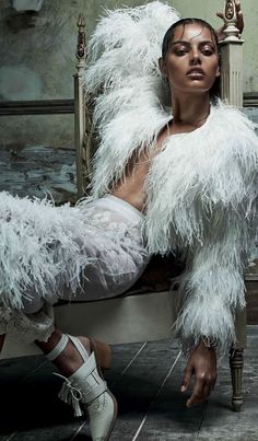 "Mariana Santana in ""Colombina Gótica"" for Vogue Brazil February 2014 - Photographer Zee Nunes"