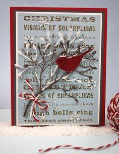 Christmas bird using Memory Box Dies