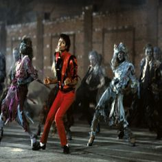 """December 2, 1983 - MTV aired the full 14-minute version of Michael Jackson's 'Thriller' video for the first time. Now regarded as the most influential pop music video of all time, in 2009, the video was inducted into the National Film Registry of the Library of Congress, the first music video to ever receive this honor, for being """"culturally, historically or aesthetically"""" significant. •• #michaeljackson #thisdayinmusic #1980s #thriller"""