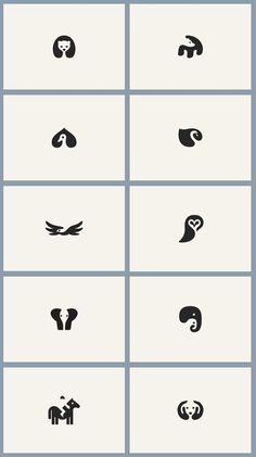 Negative space animals.
