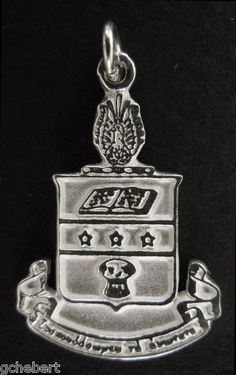 Alpha Chi Omega Sorority Large Sterling Silver Crest Charm available in Good Things From Louisiana, an ebay store.