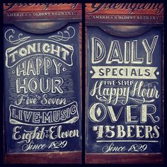 Beautiful chalk hand lettering.