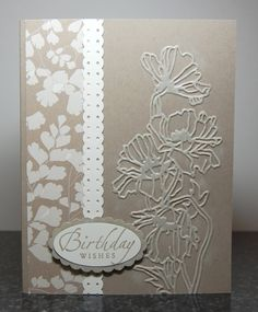 cute greeting cards, stamp, card idea, birthday card, emboss card, emboss birthday, pretti, flowers garden, emboss folder