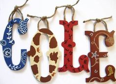western themed wall letters