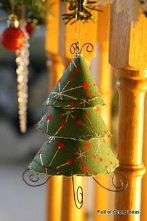 Scrapbook paper tree ornament