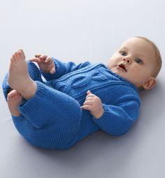 Modèle combinaison à torsades bébé - Modèles Layette - Phildar