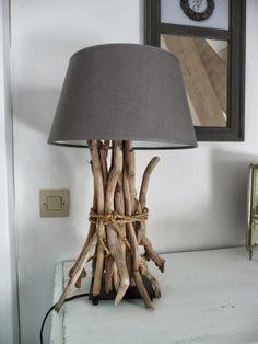 Brilliant Ikea hack: Adding driftwood to a basic Ikea lamp for a beachy vibe