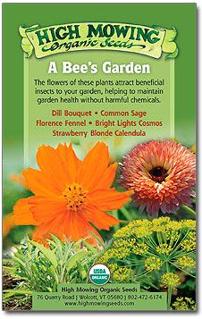 A Bee's Garden Organic Seed Collection...love bees