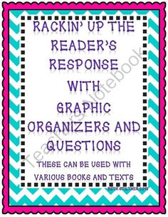 Reading Response Pack from cbstiltner on TeachersNotebook.com -  (23 pages)  - Fiction and Nonfiction Reading Response