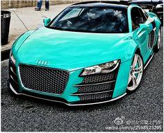 Tiffany Blue Audi R8. Ummm yes please!