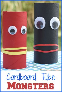Cardboard Tube Monsters - easy craft for kids